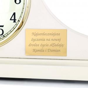 zegar z grawerem dedykacji na prezent ślubny