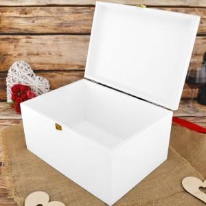 drewniana skrzynka na prezent dla rodziców z grawerem