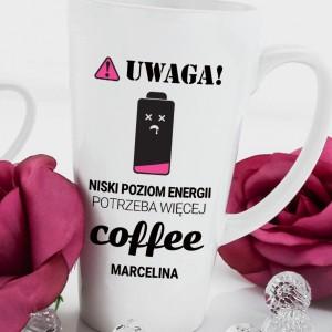 prezent dla dziewczyny kubek latte z nadrukiem dedykacji