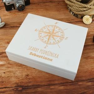 upominek dla podróżnika szkatułka na upominki z personalizacją