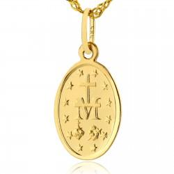 cudowny medalik złoty na prezent na chrzest dla chłopca