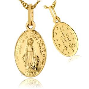 cudowny medalik złoty