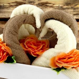 ręczniki łabędzie na prezent na ślub