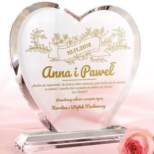 statuetka serce na prezent dla nowożeńców