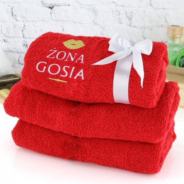 ręcznik z haftem na prezent dla żony