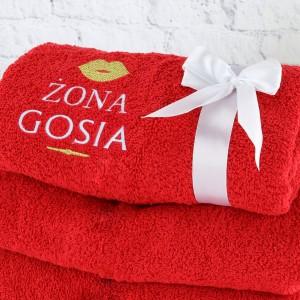 prezent dla żony na urodziny ręcznik z imieniem