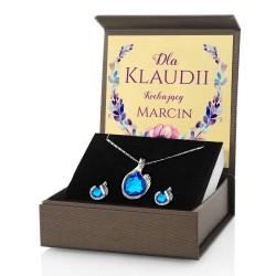 biżuteria na prezent w pudełku z nadrukiem dedykacji