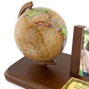 globus na biurko z dedykacją dla taty