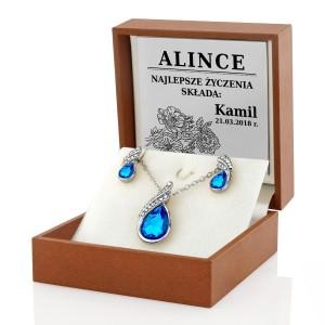 komplet biżuterii damskiej z grawerem dedykacji