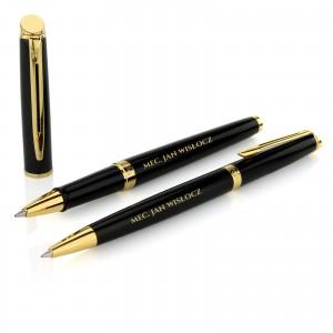 długopis i pióro waterman z grawerem na prezent