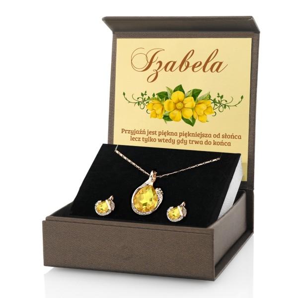 d502d5d02d71ab Niespodzianka urodzinowa dla przyjaciółki komplet biżuterii w pudełku z  dedykacją. kolczyki i naszyjnik dla niej · biżuteria na prezent dla niej