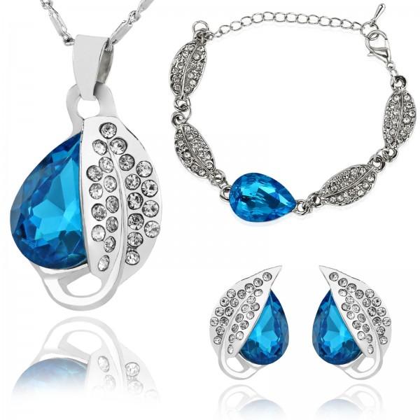 zestaw biżuterii z kryształami dla dziewczyny