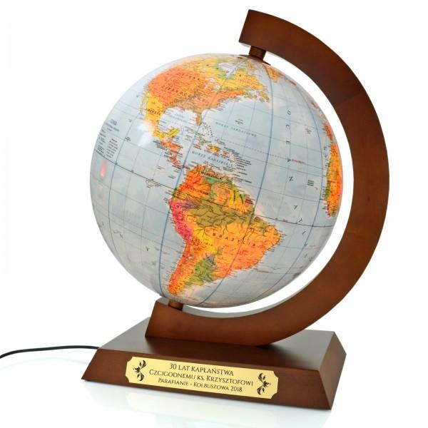 podświetlany globus na prezent dla księdza