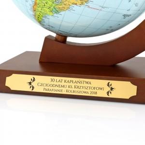 globus podświetlany na prezent na jubileusz kapłaństwa