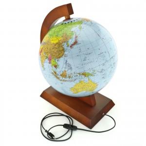 globus polityczno-fizyczny podświetlany