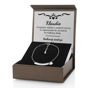 bransoletka celebrytka serce z grawerem na prezent na walentynki
