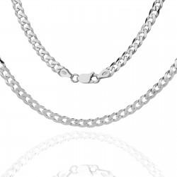 srebrny łańcuszek męski na prezent dla męża