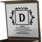 pudełko biżuteryjne z grawerem dedykacji na prezent dla mężczyzny