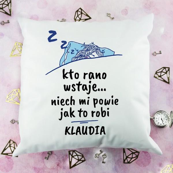 poduszka z nadrukiem imienia na prezent dla przyjaciółki