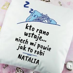 poduszka z własnym nadrukiem na prezent dla siostry