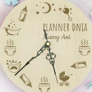 prezent dla mamy zegar ścienny z imieniem