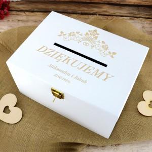 pudełko na koperty drewniane z personalizacją