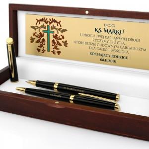 długopis i pióro waterman w zestawie na prezent