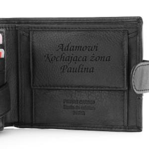 męski portfel z grawerem