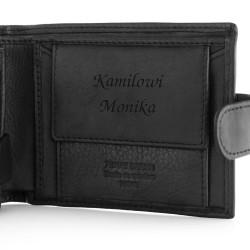 portfel męski z grawerem