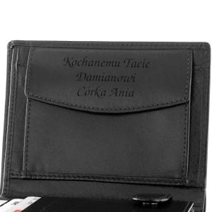 portfel z grawerem na prezent dla taty
