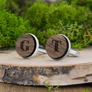 drewniane spinki z grawerem na prezent dla dziadka