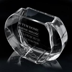 grawerowany wazon ze szkła na prezent na rocznicę ślubu