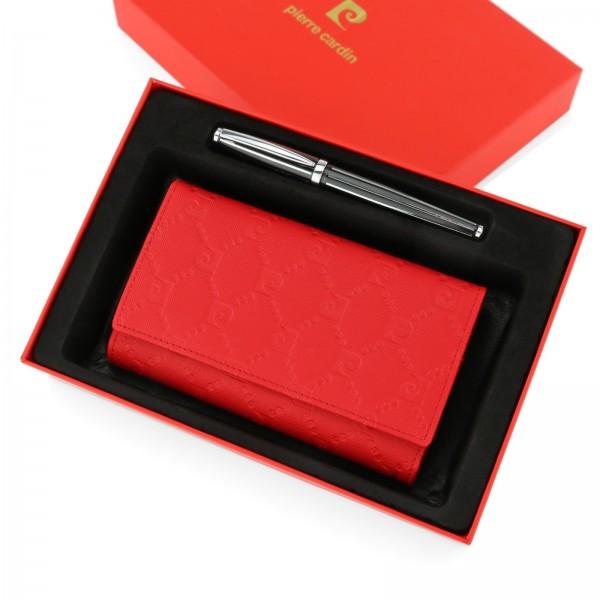 82d9b14ec3d53 prezent dla żony na rocznicę ślubu portfel skórzany damski z długopisem  pierre cardin