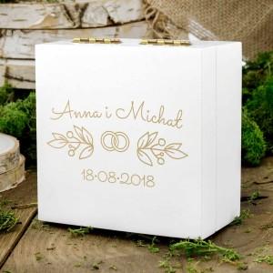 pudełeczko na obrączki dla nowożeńców