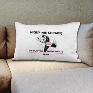 poduszka z nadrukiem na prezent dla męża