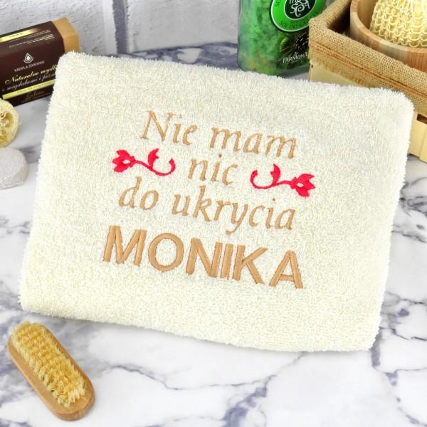 ręcznik z haftem na prezent dla niej