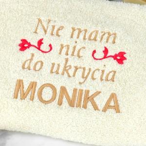 ręcznik z imieniem na prezent dla dziewczyny