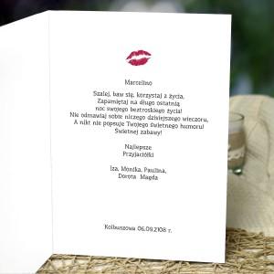 spersonalizowana kartka na wieczór panieński dla przyjaciółki