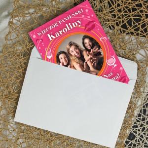 prezent na wieczór panieński dla siostry kartka z ze zdjęciem i życzeniami