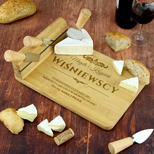 prezent na parapetówkę deska do serów z grawerem