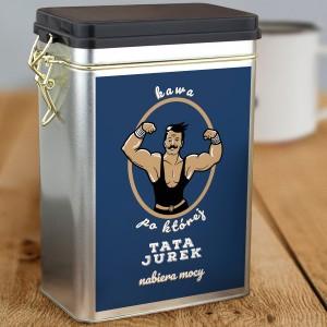 personalizowany pojemnik na kawę na prezent dla taty na święta
