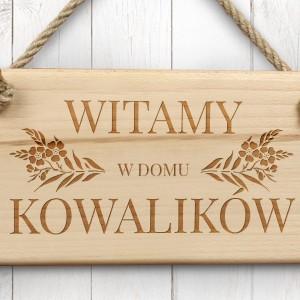 prezent na parapetówkę tabliczka drewniana z grawerem
