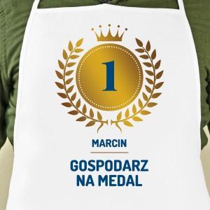 prezent na parapetówkę dla faceta fartuch kuchenny męski z imieniem