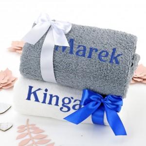 ręczniki z haftem na prezent dla niej i dla niego