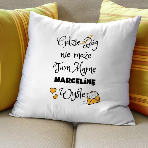 poduszka z napisem i imieniem na prezent na dzień matki