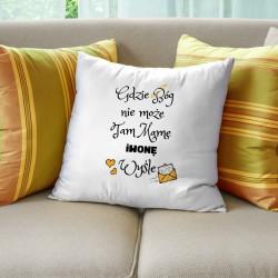 jaki prezent dla mamy ozdobna poduszka z dedykacją