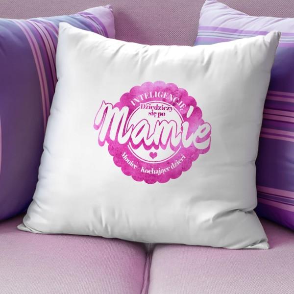 prezent dla mamy na urodziny poduszka z nadrukiem