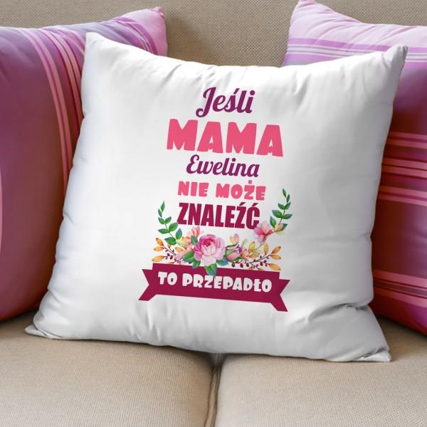 prezent na dzień matki poduszka dekoracyjna z personalizacją