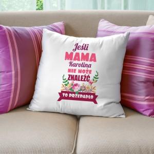 pomysł na prezent dla mamy poduszka z nadrukiem