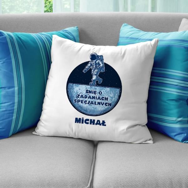poduszka dekoracyjna z dedykacją na prezent dla niego